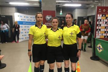 Dungannon's Lauren enjoys being woman in the middle for IFA Women's Cup final