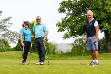 Golfers back in the swing at Killymoon
