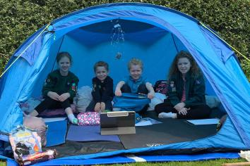 Hundreds of Scouts take part in virtual camp from homes
