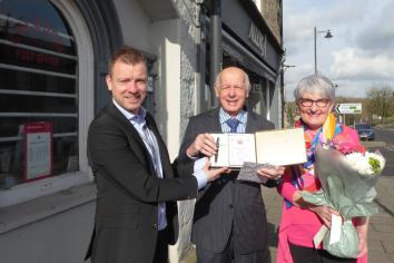 50 years' service as Postmaster