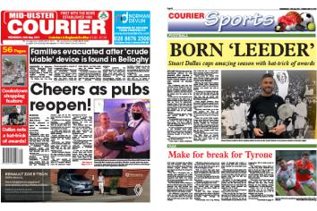 Mid-Ulster Courier -This week's front & back pages