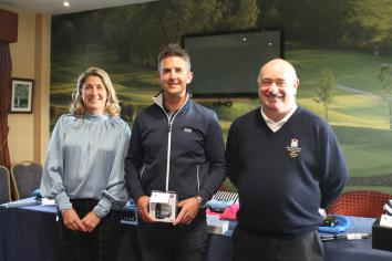 Jarlath presents Captain's Day prizes at Dungannon GC