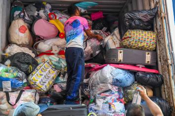 Dungannon container packed with relief aid on its way to East Timor