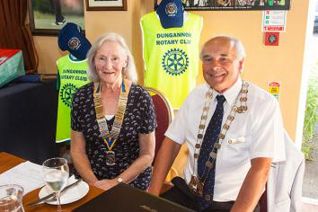New Presidents take office at Dungannon Rotary Club