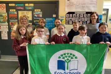 Bush Primary School flying the Eco Green Flag for a fifth time!