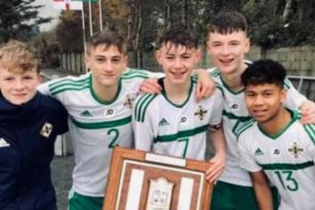Five star Swifts lads lead NI to Victory Shield
