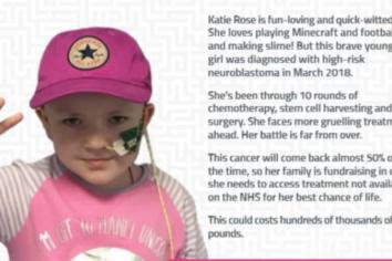 Local family's bid to raise thousands for eight-year-old daughter battling cancer