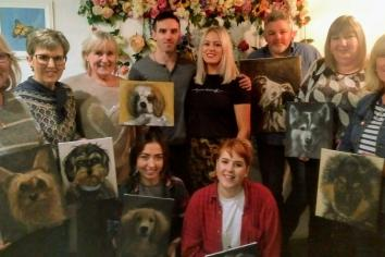Donaghmore café's first paint workshop featuring local artist