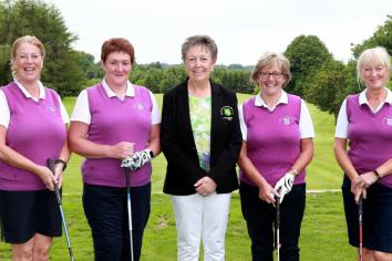Linda on form at Clogher Valley Lady Captain's Day