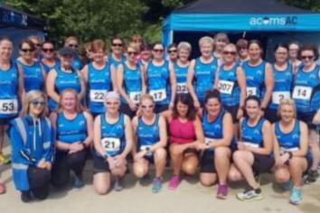 Acorns host enthralling Blue Belles 5k