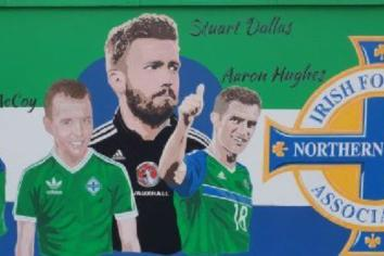 Mural of Cookstown footballing heroes unveiled