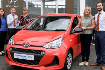 Ivor drives away with new car in Hospice Car Raffle