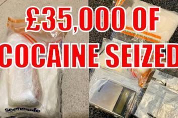 Man charged after Policeseize £35k ofCocaine from 'Pablo Escofelt'