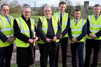Clogher Valley Free Presbyterian Churchsod cutting ceremony for new meeting house