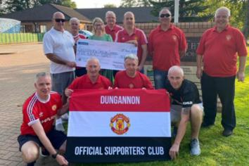 Sperrinview 'nets' £500 from Dungannon MUFC Supporters' Club!