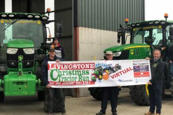Covid fails to put brakes on annual Livingstone Christmas Tractor Run as event moves online